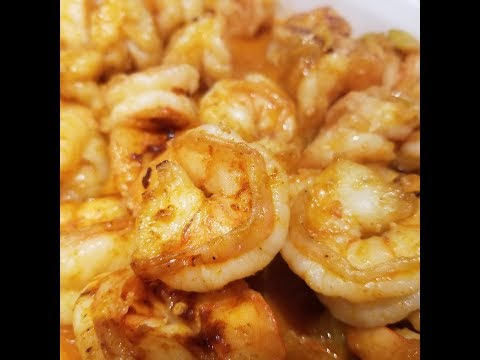 How to cook GARLIC SHRIMP in a stainless steel pan