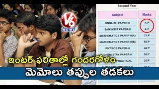 Mistakes In TS Intermediate Results 2019, Students In Concern | Hyderabad | V6 News