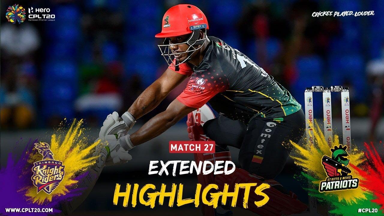 Download Extended Highlights | Trinbago Knight Riders vs St Kitts & Nevis Patriots | CPL 2021