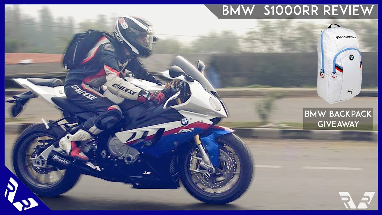 BMW S1000RR Review | Riding Experience | BMW Backpack Giveaway ...