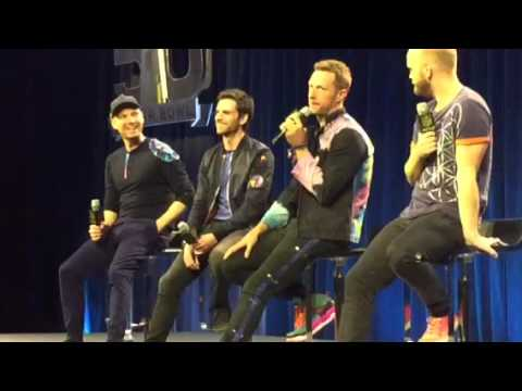 Coldplay Loves Beyonce's Music - Super Bowl Halftime Show Press Conf #SB50