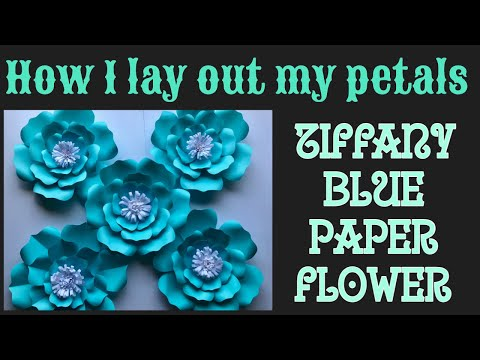 How I assemble my Blue Tiffany color paper flower