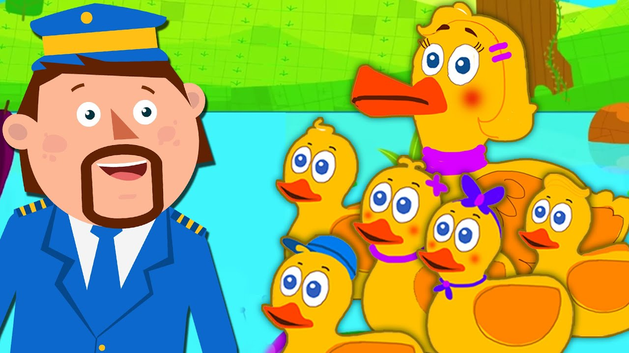 Five Little Ducks | Nursery Rhymes & Kids Songs | Captain Discovery
