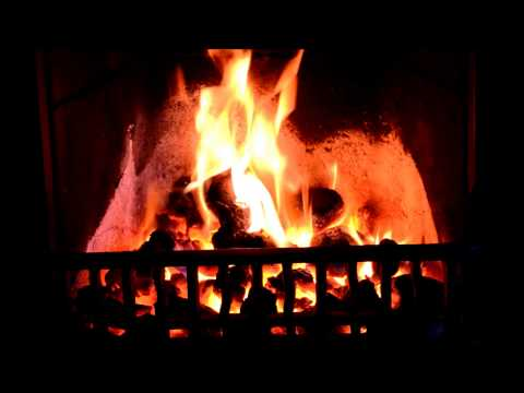 Proper Real Coal Fire in a Fireplace HD