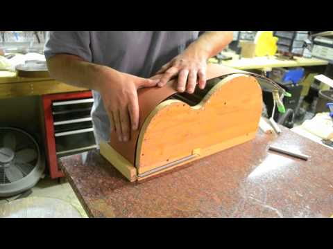 Bending guitar Sides jig mold acoustic archtop Benedetto Style - Inside the Luthier's shop