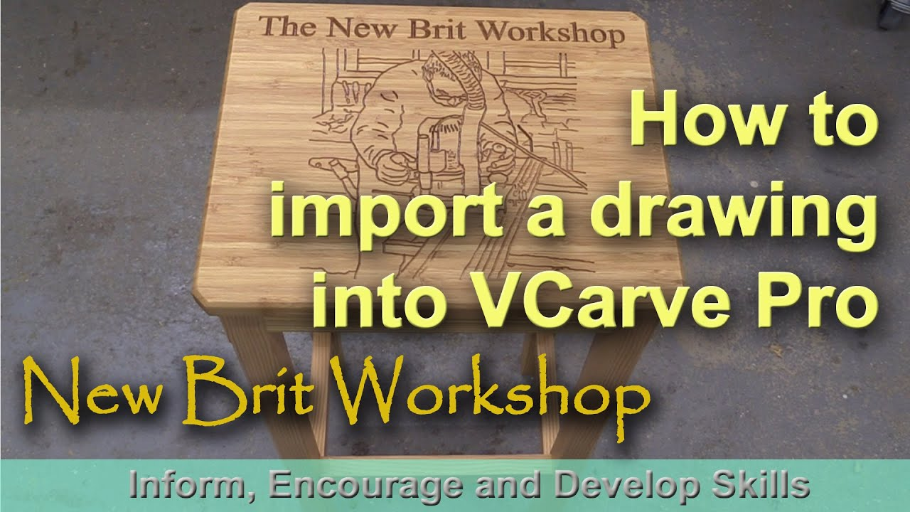 How to import a drawing into VCarve Pro