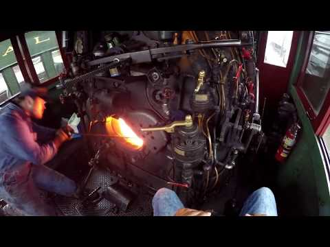 How to Operate a live Steam Locomotive view from engineers seat