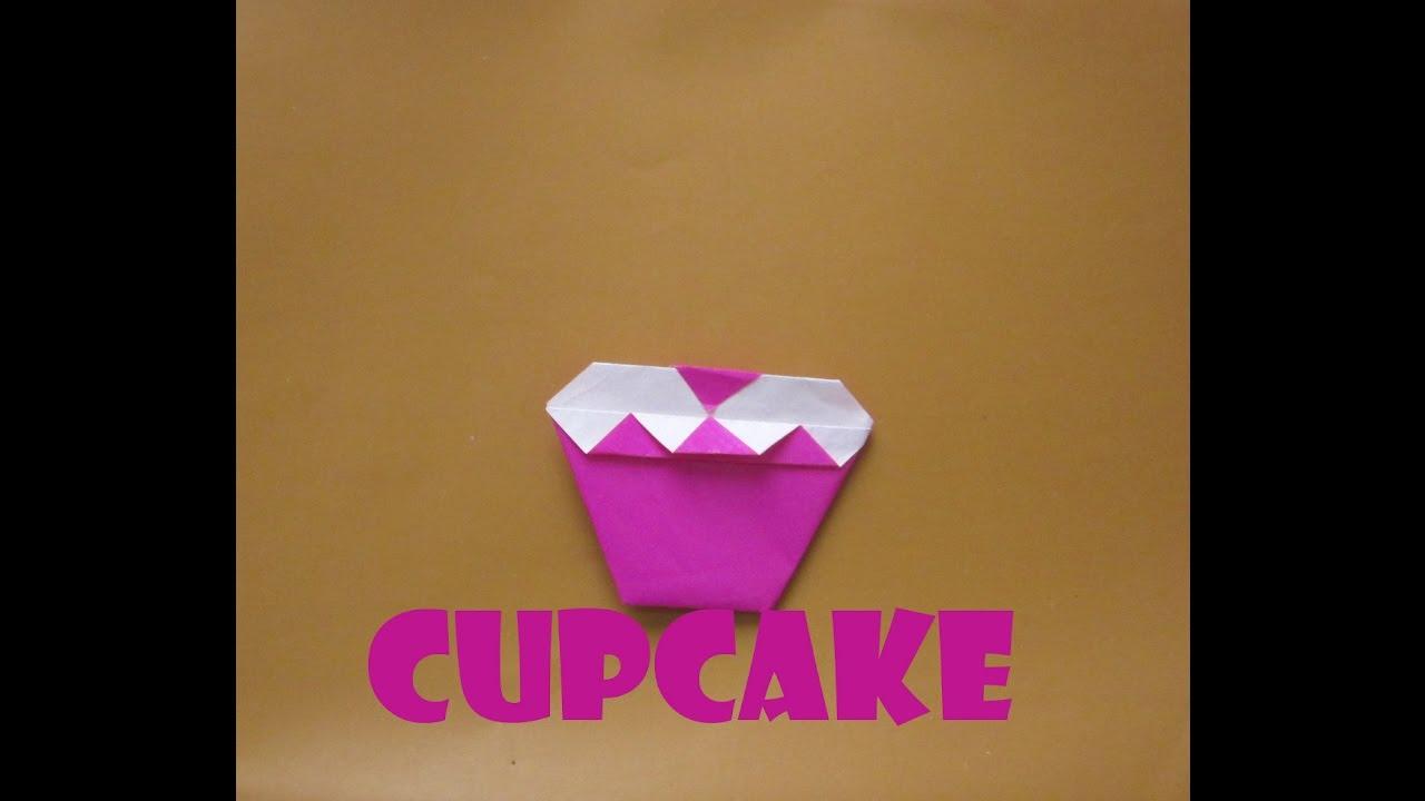 origami cupcake tutorial how to make an origami cupcake
