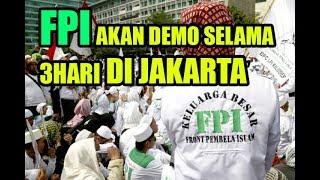 Massa FPI Ikut Unjuk Rasa People Power 3 Hari Berturut turut Mulai 20 Mei 2019