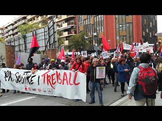 Resum de la manifestació del 1r de Maig a Mataró. #Maresme1M