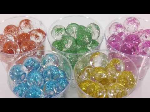 DIY How to Make 'Colors Soft Stick Jelly Gummy Pudding' Learn Colors Big Orbeez Glitter Powder