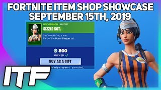 Fortnite Item Shop 'NEW' SIZZLE SGT. SKIN! [15 septembre 2019] (Fortnite Battle Royale)