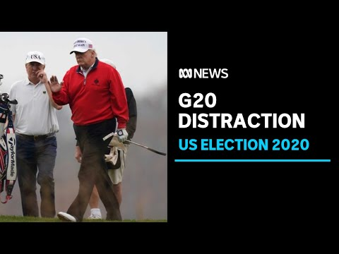 Donald Trump skips G20 vaccine talks to play golf as US COVID-19 cases hit new milestone | ABC News