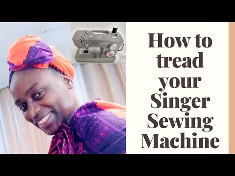 How to tread a sewing machine for beginners