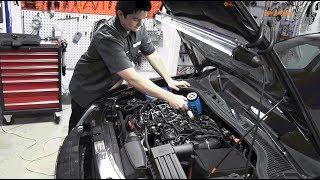 Test funkčnosti katalyzátoru před DPF na vozidle