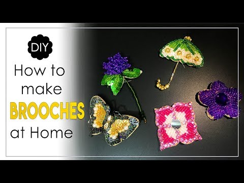 6 Ideas for Making Handmade Brooches | DIY Brooch Making at Home - YouTube