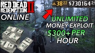 UNLIMITED MONEY GLITCH on RED DEAD REDEMPTION 2 Online (EXPLOIT) BEST MONEY METHOD $300+ Every Hour!