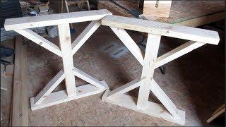FARMHOUSE TABLE LEG ASSEMBLY DIY   SHOP SATURDAY EPISODE 16