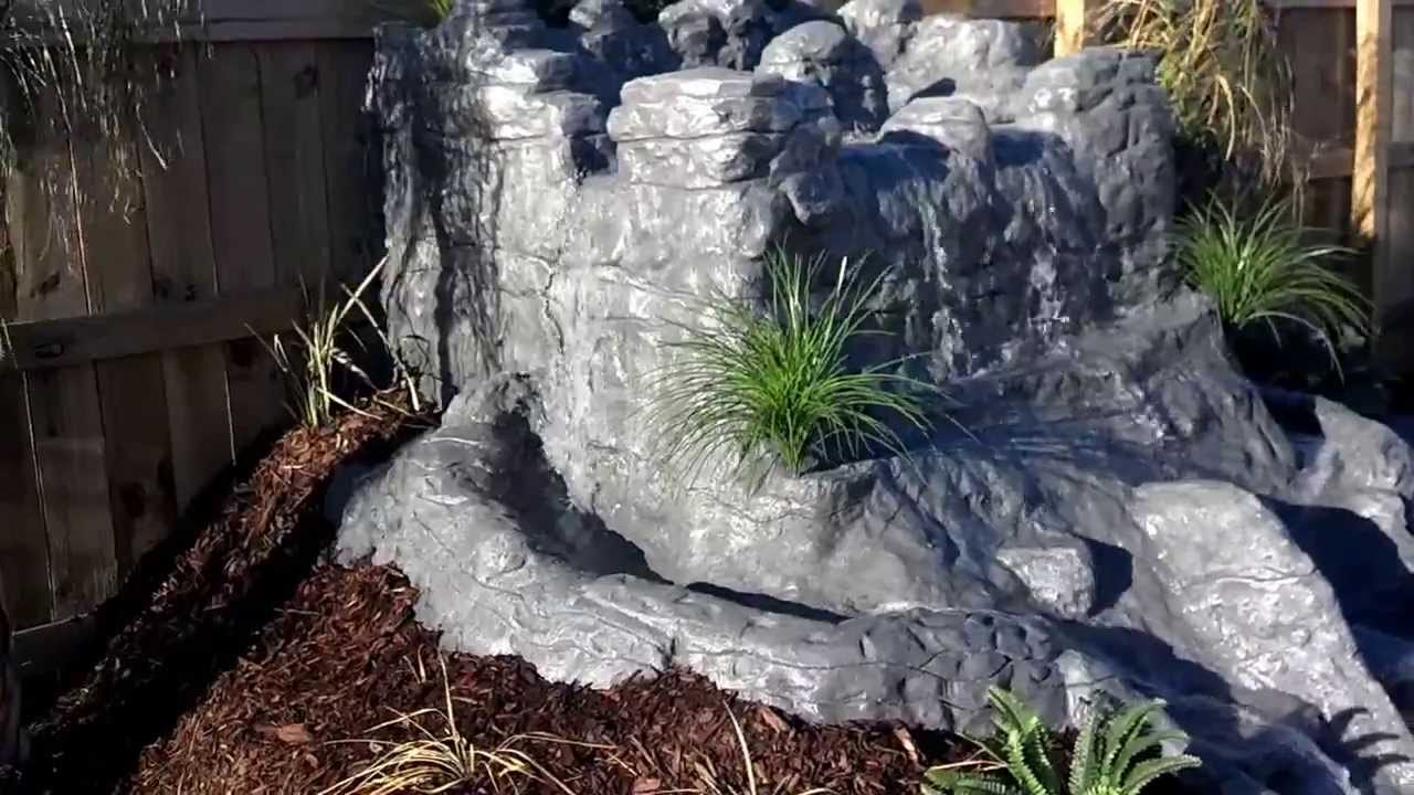 Homemade Artificial Rock backyard
