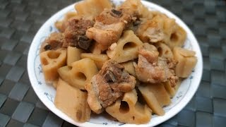 Chinese Recipe : Stewed Lotus Root with Spareribs