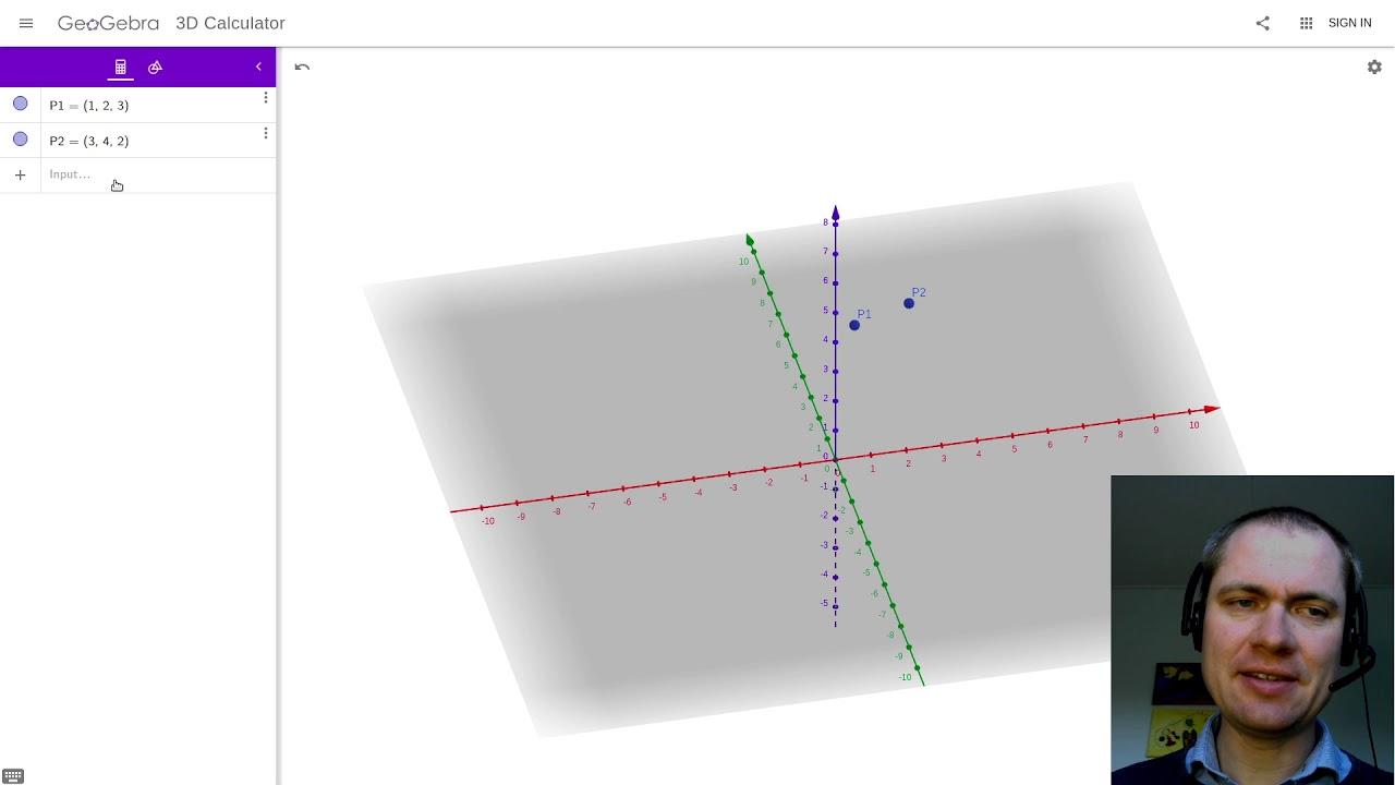 Punkter, linjer og planer i 3D