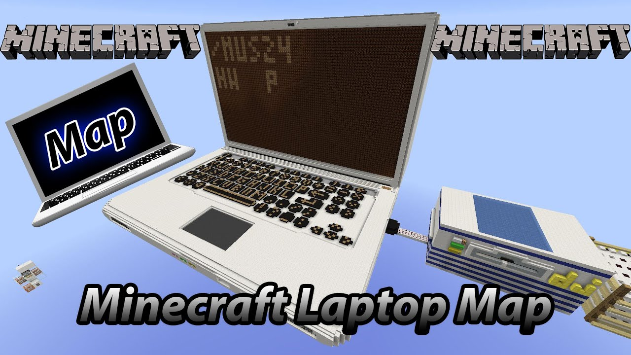 Minecraft Amazing Redstone Laptop Computer Map (Fully ...