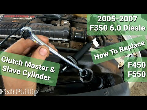 Ford F350 Clutch Master Cylinder Replacement And Slave Cylinder Replacement 6.0 Diesel