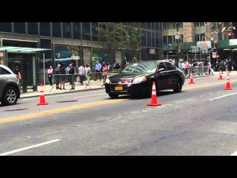 NYPD UNMARKED CRUISER PATROLLING ON E. 42ND ST. DURING THE UNITED NATIONS GENERAL ASSEMBLY MEETINGS.