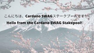 こんにちは、Cardano SWAGステークプールです!Hello from the Cardano SWAG Stakepool!