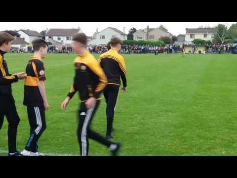 Austin Stacks U14 Feile team are introduced at half time