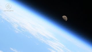 Moonset in space