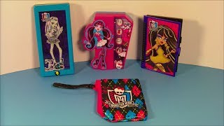 2013 MONSTER HIGH SET OF 4 McDONALD'S HAPPY MEAL KID'S TOY'S VIDEO REVIEW