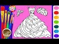 How to Draw Girls Dresses Rainbow, Accessories for Girls | Art Colors for Kids
