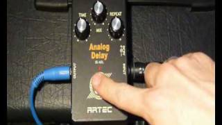 Artec analog delay - Simple pedal demo