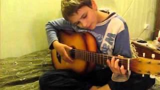 Урок игры на гитаре боем. Виктория Юдина