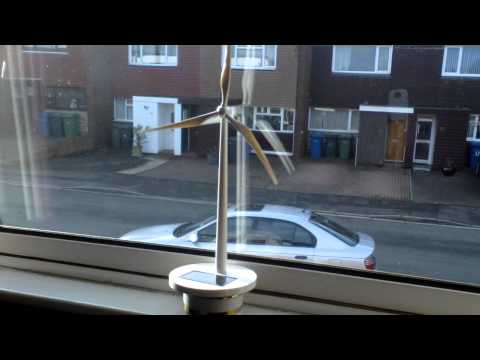 Model Solar Powered Wind Turbine