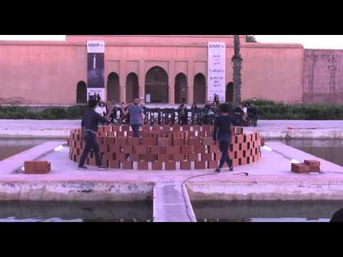 "Radouan Mriziga, ""3600"", Live performance at Palais El Badii, 2016, 2016 Marrakech Biennale"