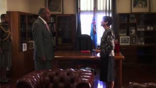 NEW US AMBASSADOR PRESENTS CREDENTIALS TO FIJIAN PRESIDENT