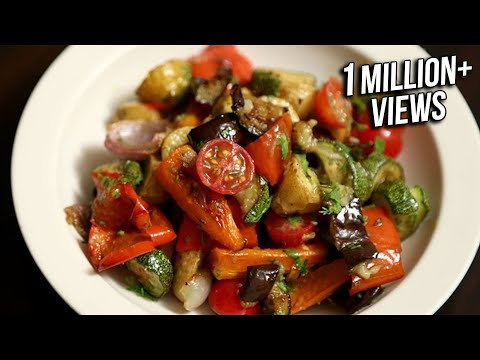 Roasted Vegetable Salad Recipe | Quick & Easy Baked Veg Salad | Ruchi's Kitchen