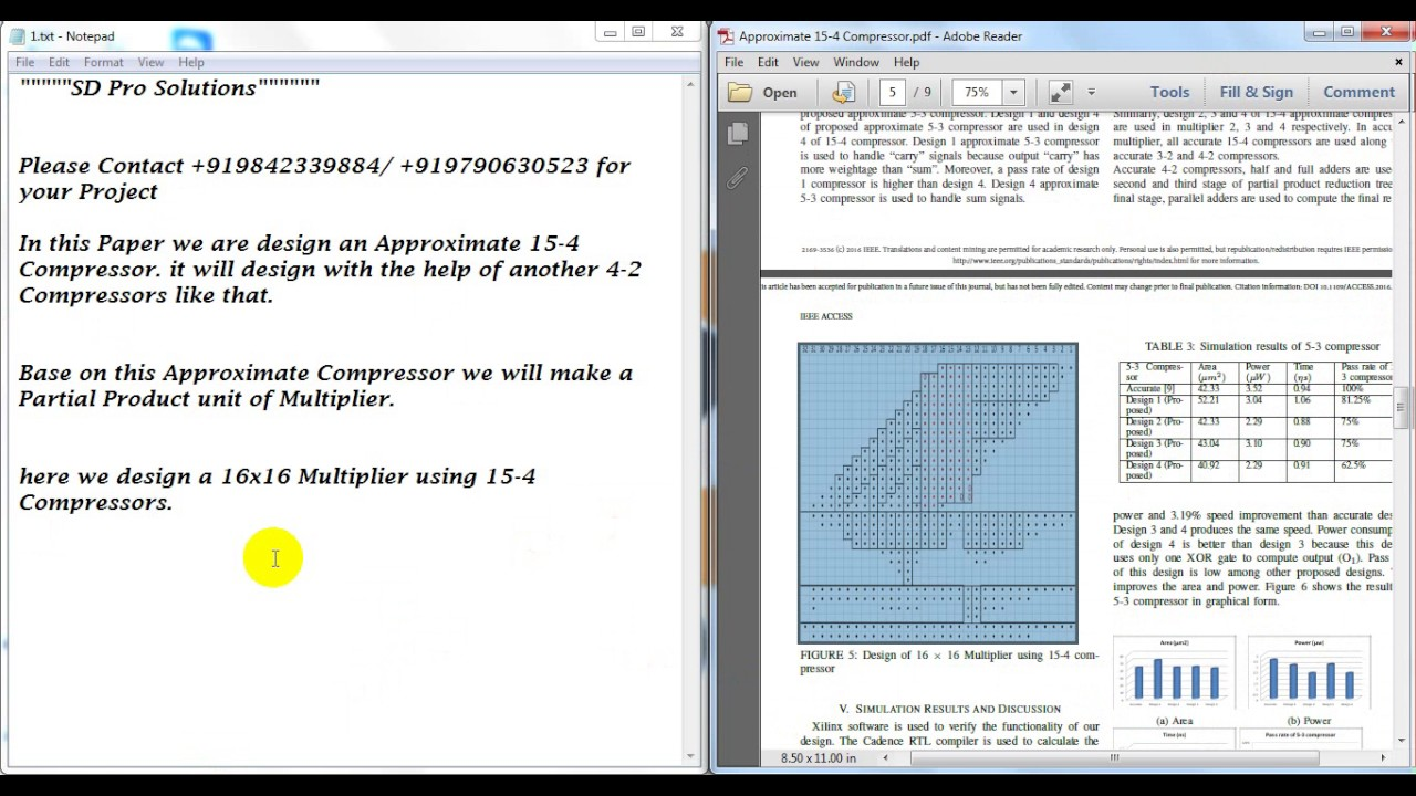 Design and Analysis of Multiplier Using Approximate 15-4 Compressor||M E  Final Year vlsi Projects