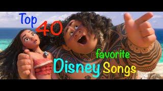 Top 40 Disney Songs