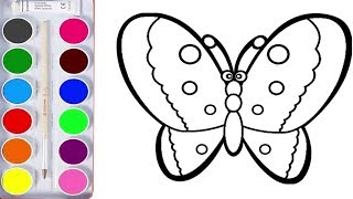 How to color Butterfly | Coloring Pages Animals | Coloring Pages | раскраска