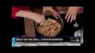Chicken Burgers on the Grill (7/24/14 on KARE 11)