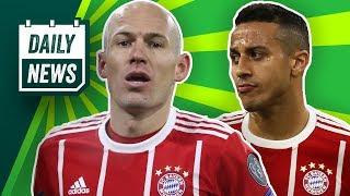Thiago doch zu Barcelona? Verlässt Robben den FC Bayern? Und Jogi Löw trifft sich zum DFB-Neustart!