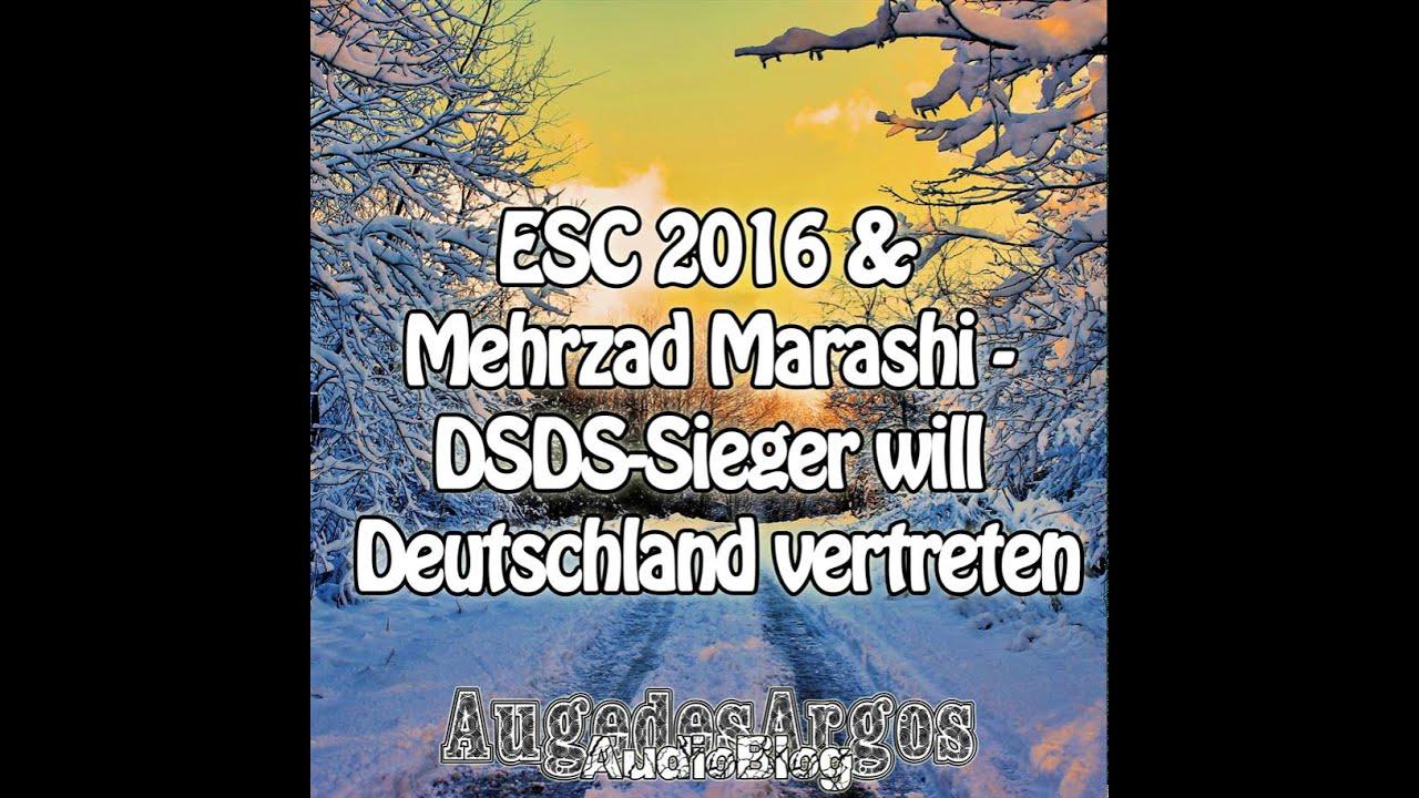 esc 2016 mehrzad marashi dsds sieger will deutschland vertreten youtube. Black Bedroom Furniture Sets. Home Design Ideas