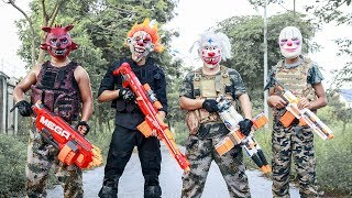 NERF WAR : Special Task SWAT Warriors Nerf Guns Fight Criminal Group Mask Mission Impossible