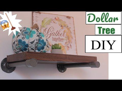 DOLLAR TREE DIY | INDUSTRIAL SHELF |DIY PROJECT 2018