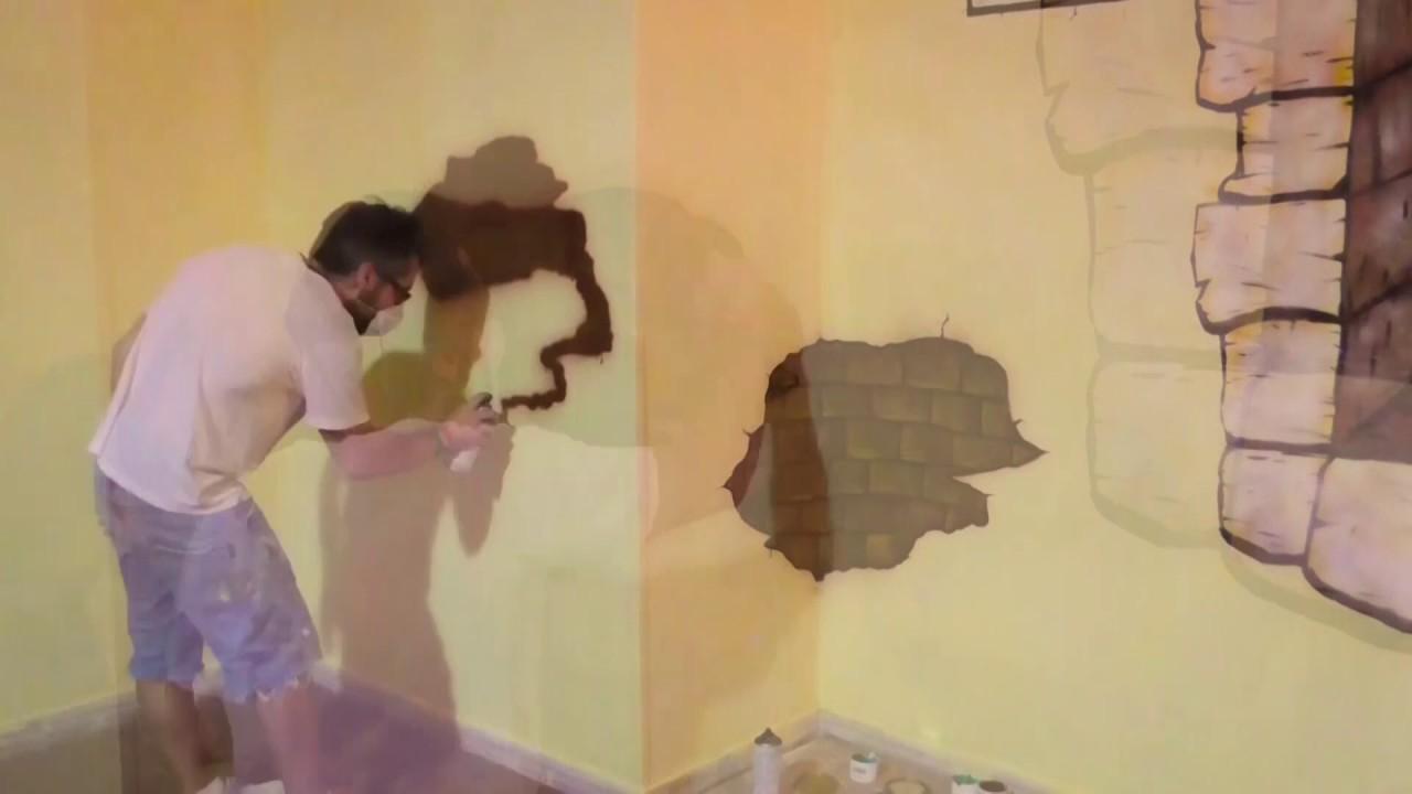 Murales - Spray art - CAMEO Foggia - Antonio Bratti - YouTube