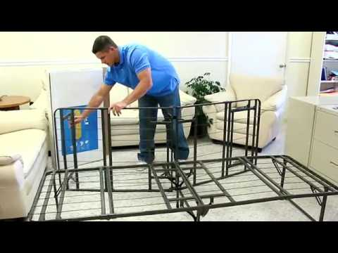 bi fold metal bed frame pragma bed youtube