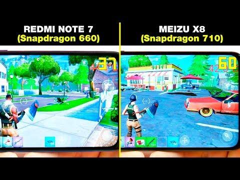 REDMI NOTE 7 (Snapdragon 660) Vs MEIZU X8 (Snapdragon 710) БОЛЬШОЕ СРАВНЕНИЕ В ИГРАХ! FPS + НАГРЕВ